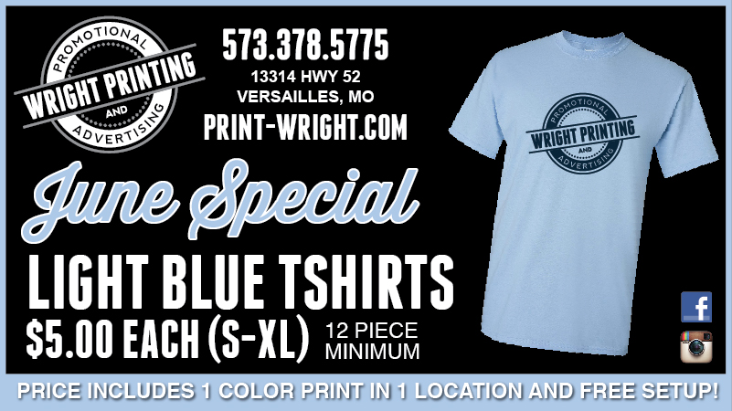 June Special – Save this month on Light Blue Tshirts