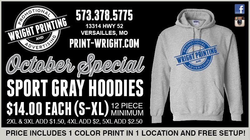 October Special – Sport Gray Hoodies