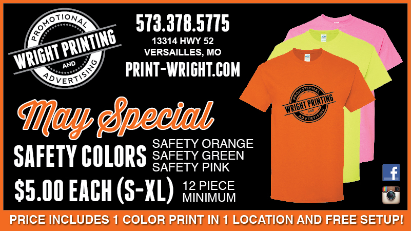 May Special – Safety Colored Shirts