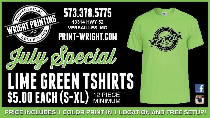 July Special – Save this month on Lime Green Tshirts