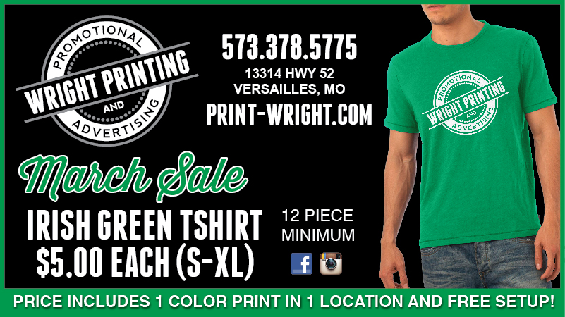 March Special – Get Lucky with Irish Green Tshirts!