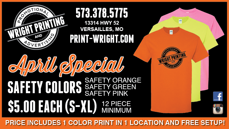 April Special – Save on Safety Colored Tshirts
