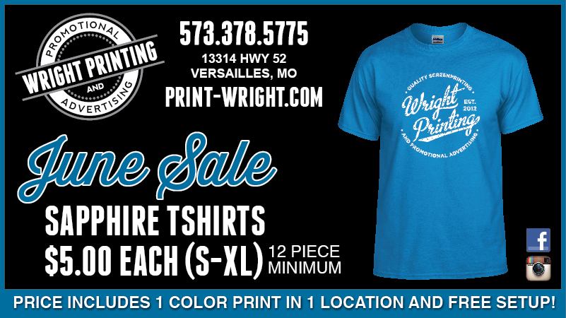 June Specials – Save on Sapphire Tshirts and Calendars