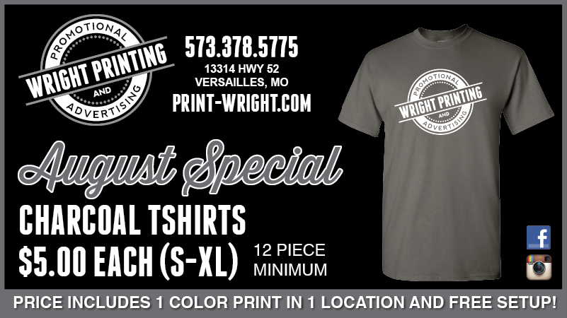 August Special – Save on Charcoal Gray Tshirts