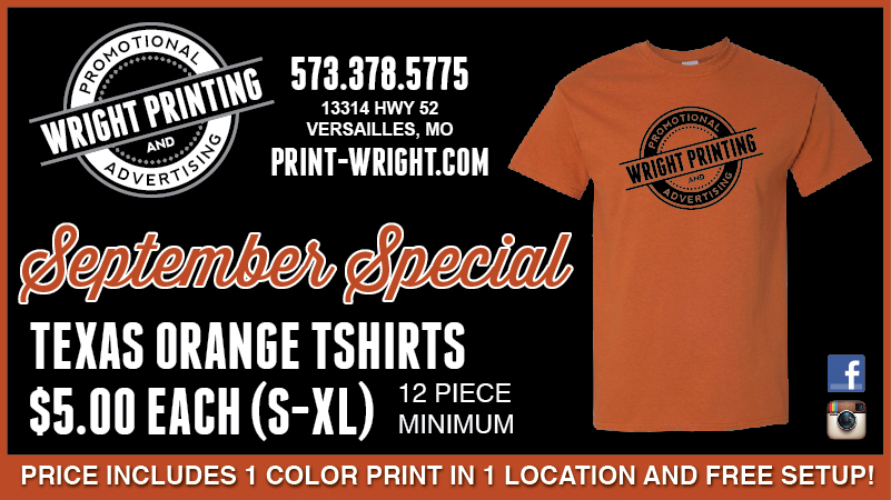 September Specials – Texas Orange Shirts and Camo Hats