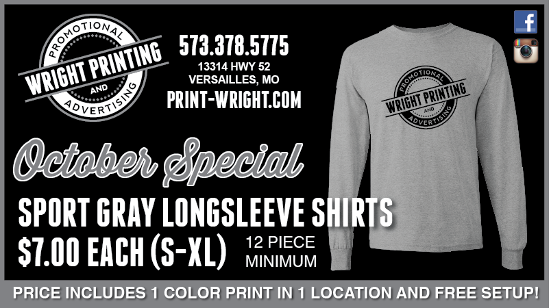October Special – Sport Gray Long Sleeve Tees
