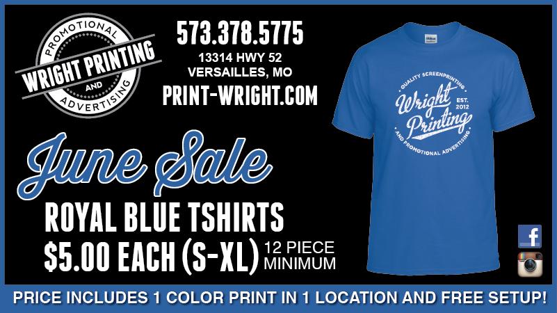 June Special – Royal Blue Tshirts